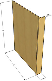 Natural shaker end panels rta cabinet store