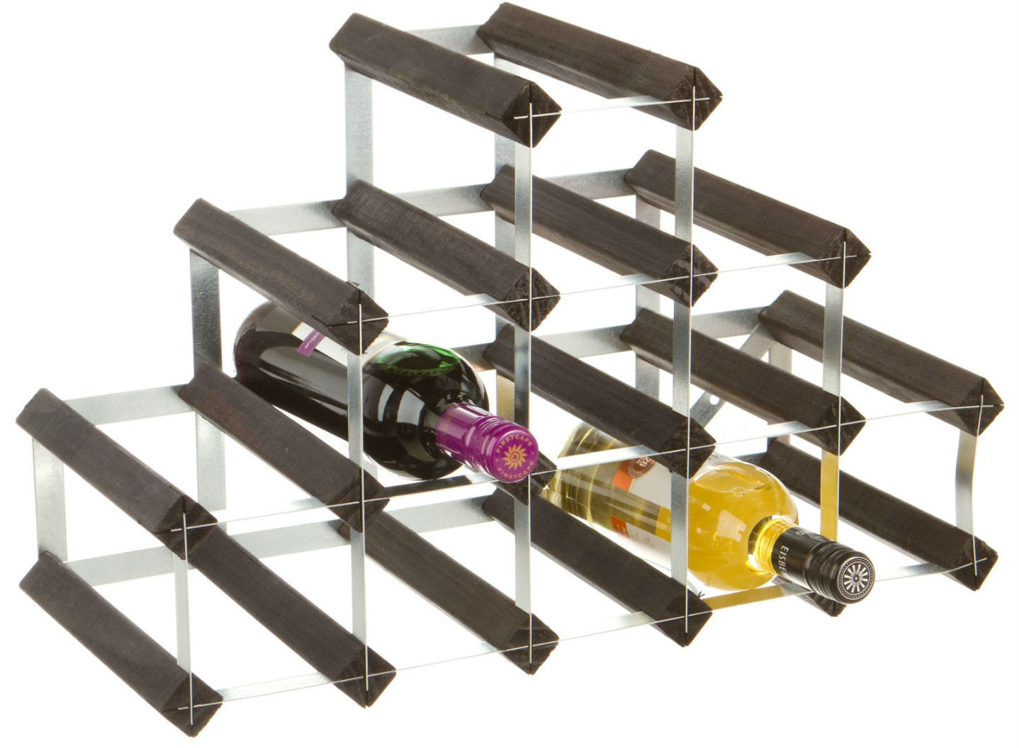 14 Bottle Traditional Wooden Pyramid Wine Rack