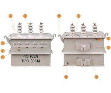 Imagen Transformadores Poste Trifásico Componentes y Accesorios