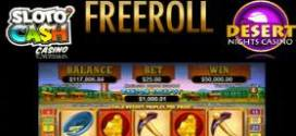 Happy New Years FREEROLL tournament at Slotocash and Desert Nights RTG Casino