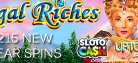 Slotocash and Uptown Aces Celebrate 2015 with 215 FREE SPINS