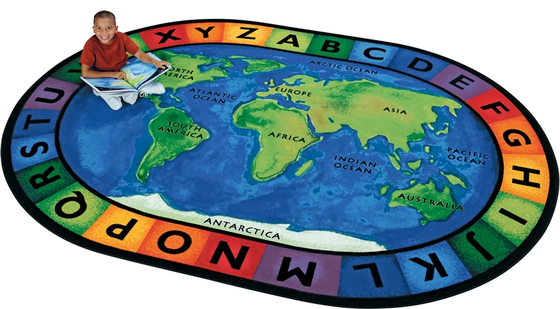 Circletime Around The World Geography Rug Cfk41xx
