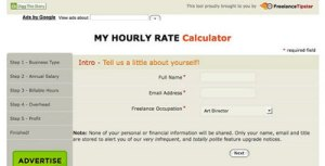 freelance tipster my hourly rate calculator