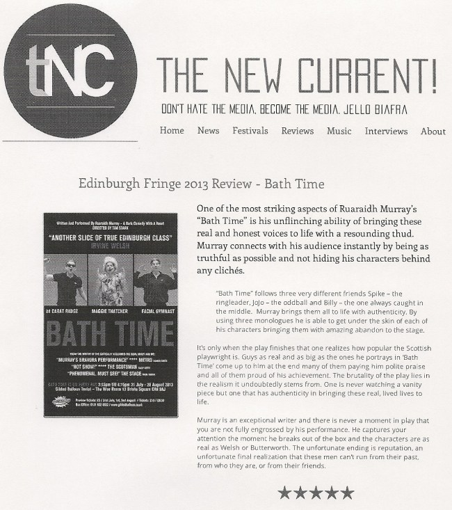 Bath Time - Ruaraidh Murray - The New Current scan
