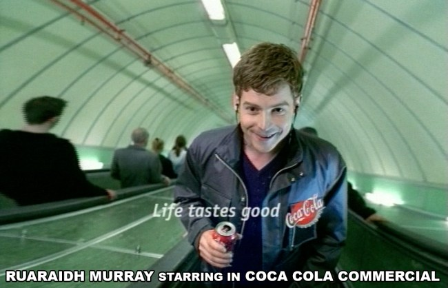 NGC RUARAIDH MURRAY STARRING IN COCA COLA COMMERCIAL