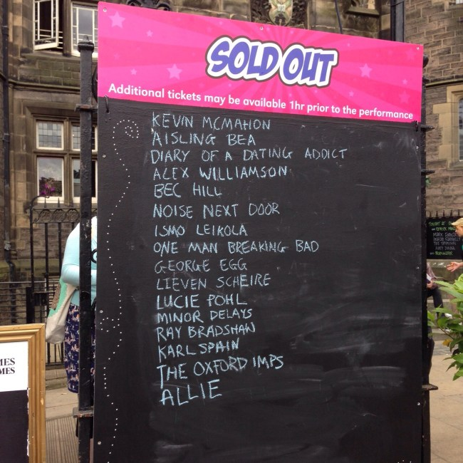 ALLIE SOLD-OUT AT GILDED BALLOON