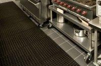 Commercial Kitchen Rubber Floor Mats - Wood Floors