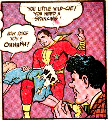 captain_marvel_adventures_wheaties_spanking_panel
