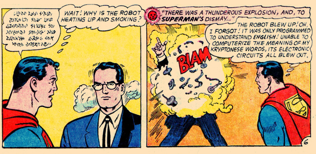 "Bit of an over-reaction, don't you think, ""Clark?"""