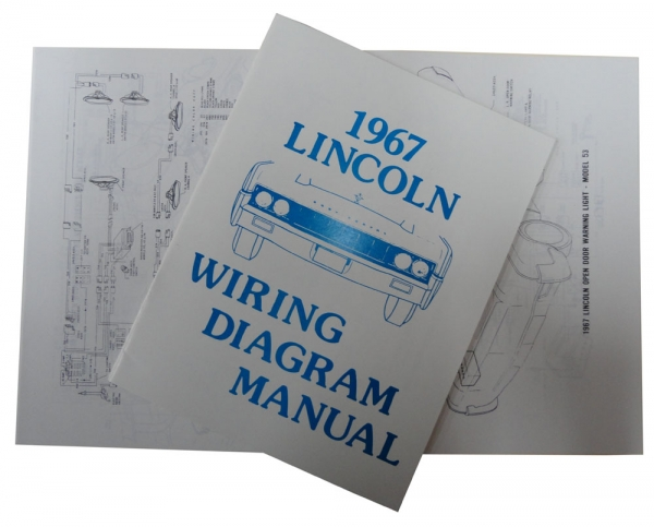 1967 Lincoln Restoration Parts Wiring Diagram Manual - MP0254