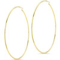 "14K Yellow Gold 3"" Hoop Earrings"
