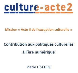 Rapport Pierre Lescure