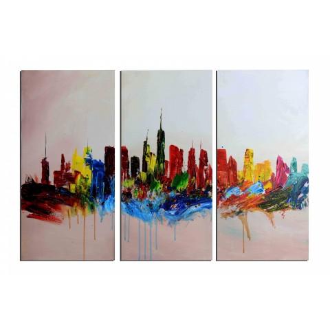 Peinture tableaux ville rues des tableaux toiles huile