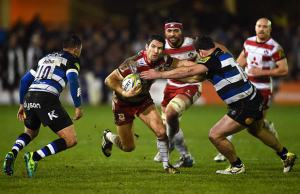 James Hook on the attack for Gloucester