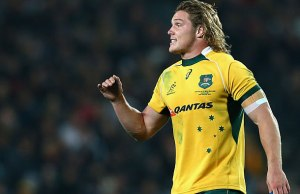 Michael Hooper has been banned for one week for his shoulder charge on Mike Brown