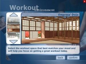 Screenshot of Yourself! Fitness Empress Dojo environment