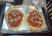 Aidell's Chicken Meatballs on the pizza