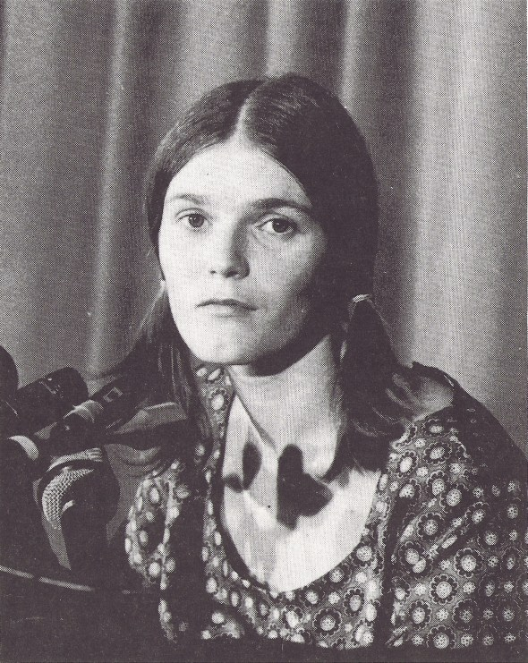 Linda Kasabian spent 18 days on the witness stand testifying for the prosecution. She was the only Manson member who did not commit murder. WIDE WORLD PHOTOS