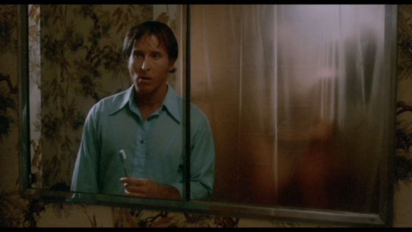 Ralph hears shower water running as he brushes his teeth. Soon one, then two women appear washing each other.
