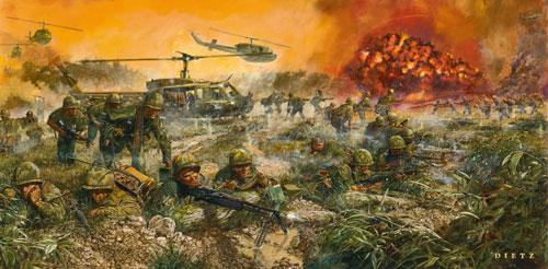 vietnam war painting