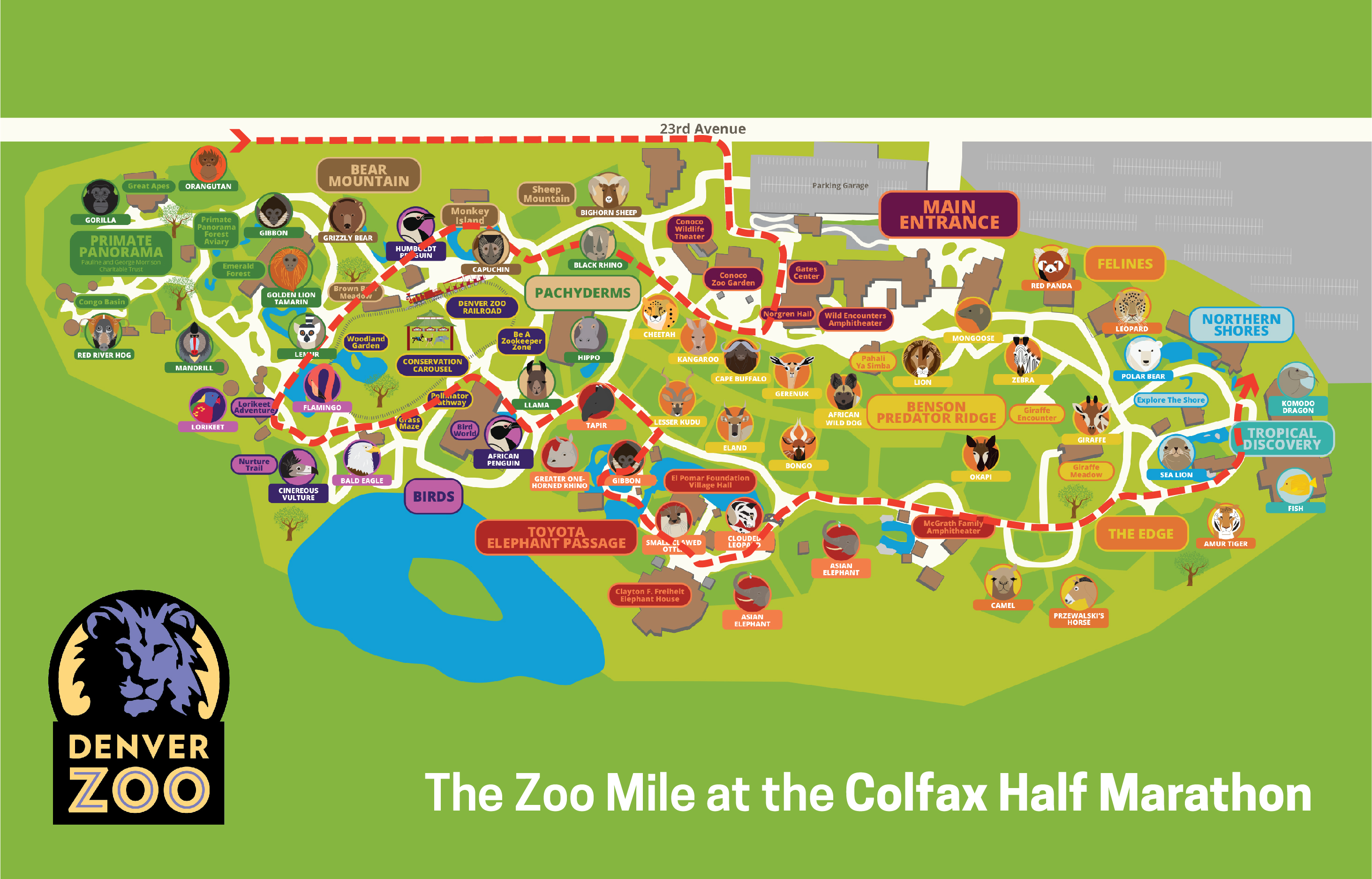 denver zoo map