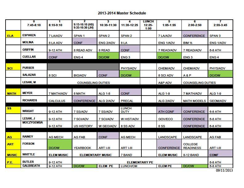 school master schedule maker free