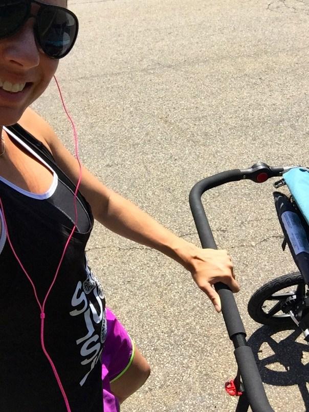 preggo runner with stroller