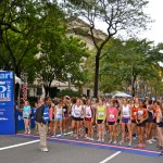 New York Road Runners has held the Fifth Avenue Mile every September since 1981. Runners race in heats according to age and gender down one of New York City's most famous thoroughfares.