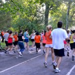 Runners in Brooklyn's Prospoect Park. Photo by Karla Bruning.