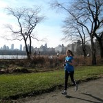 Karla runs Central Park on New Year's Day. Photo by Anne Hospod.