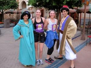 disney princess half marathon, rundisney, Royal Family 5K, Epcot, Aladdin, Jasmine