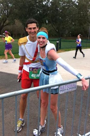 Race Report: Disney Princess Half Marathon--Cinderella and Prince Charming Running Costumes