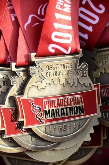 Philadelphia Marathon, race medals