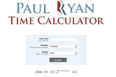 paul ryan time, paul ryan marathon