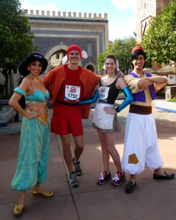 Disney running costumes, run Disney, Disney running, Walt Disney World Marathon, Cinderella in rags, Jacque the mouse, running costume