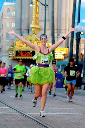 Disney running costumes, Tinker Bell Half Marathon, Tink Half