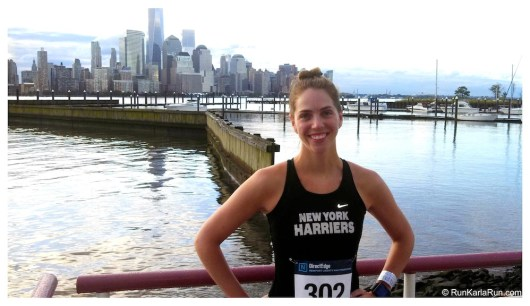 Newport Liberty Half Marathon, Jersey City, Manhattan skyline