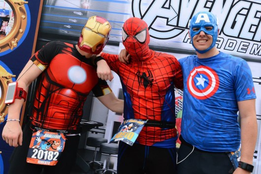 Super heroes at the Walt Disney World Marathon. (Photo: runDisney)