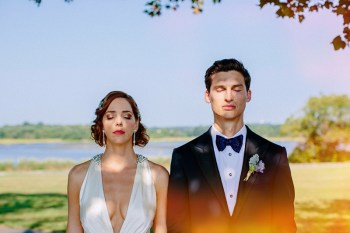 A 1930s & 1940s Hollywood Inspired Vintage Wedding in Rhode Island