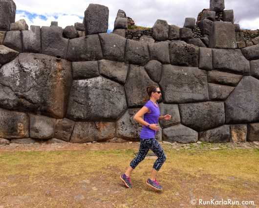 Running past Inca ruins in Peru! From: Marathon Training Derailed? Get Right Back On Track