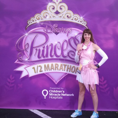 Disney Princess Half Marathon Running Costume Peak