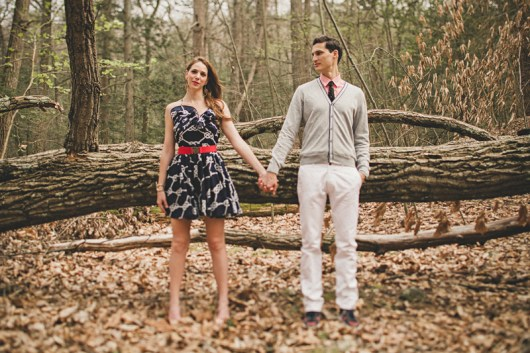 Our engagement photo shoot in Harriman State Park (Photo: Lev Kuperman