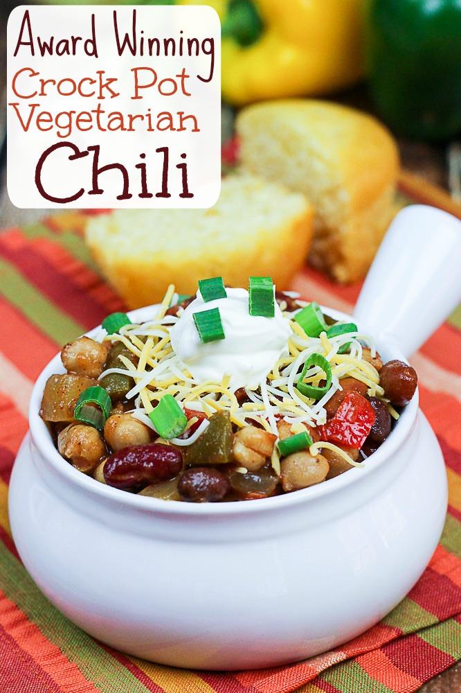 Crock Pot Award Winning Vegetarian Chili Recipe