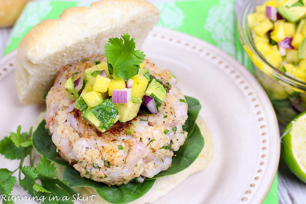 Shrimp Burgers with Mango-Avocado Salsa