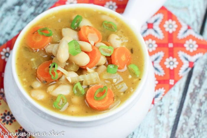 Crock Pot Vegetarian White Bean Soup