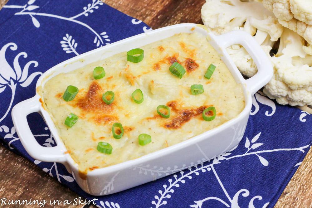 5 Ingredient Parmesan Garlic Mashed Cauliflower