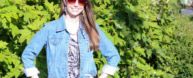 Cuffed Denim Jacket-51-3