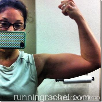 RunningRachel flexing her mamaguns
