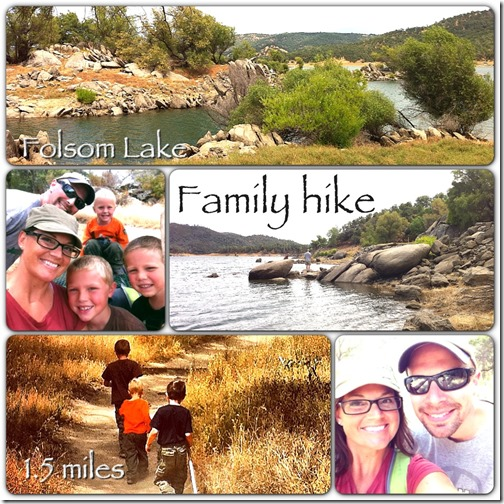 family hike, folsom lake