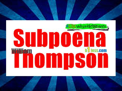 Subpeona William Thompson image